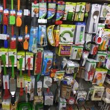 Shelf with kitchen accessories